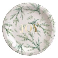 """Pack of 16, 7"""" Round Joy Branches Paper Plates"""