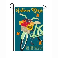 "12"" x 18"" Mini Autumn Days Bike Garden Flag"