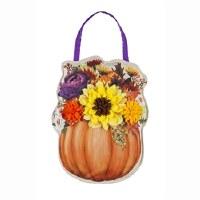 "17"" Pumpkin Flower Door Hanger"