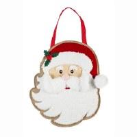 """18"""" Santa With 3D Face Door Hanger"""