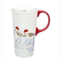 17 Oz Christmas Sandpiper Mug