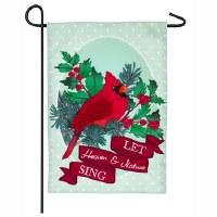"12"" x 18"" Mini Cardinal Sing Garden Flag"