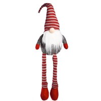 "22"" Red and Gray Stripe Gnome"