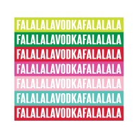 "5"" x 5"" Fa La Vodka Beverage Napkin"