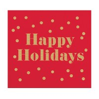 "5"" x 5"" Happy Holidays Beverage Napkin"