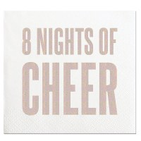 "5"" x 5"" 8 Night Of Cheer Beverage Napkin"