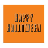 "5"" x 5"" Happy Halloween Beverage Napkin"