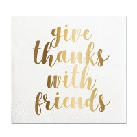 "5"" x 5"" Thanks With Friends Beverage Napkin"