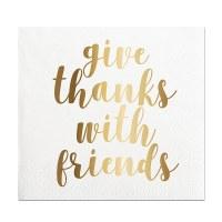 "5"" x 5"" Thanks With Friends Beverage Napkin"