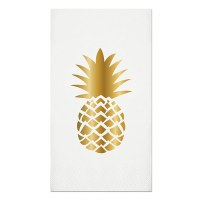 "8"" x 4.5"" Pineaple Foil Guest Towel"