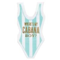 Cabana Boy Die Cut Beverage Napkin
