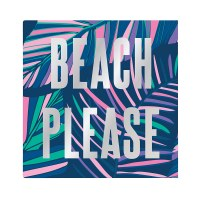 "5"" x 5' Beach Please Beverage Napkin"