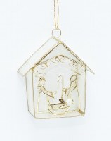"3"" Capiz Nativity Ornament"