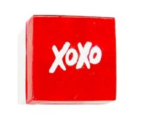 "3"" Square Red and White ""XO"" Capiz Box"