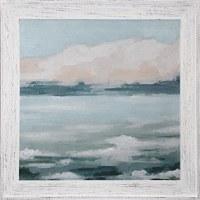 "36"" Square Multi Pastel Clouds 2 Gel Print Framed"
