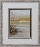"24"" x 21"" Sea Oats On Left Of Print Framed"