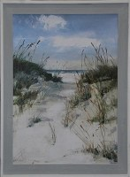"46"" x 36"" Beach Path Gel Print Framed"