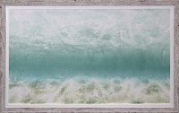 "30"" x 54"" Beach Sunrise Gel Print Framed"