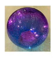 "6"" LED Dark Blue Glass Orb"