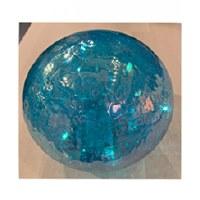 """6""""  LED Light Blue Glass Orb"""