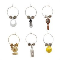 Set of 6 Tennis Wine Charms