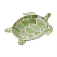 """7.5"""" Gren Turtle Dish"""