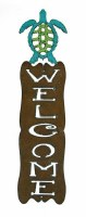 "15"" Turtle Welcome Plaque"