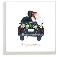 """6"""" x 6"""" Quilling Just Married Card"""