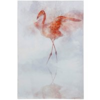 "36"" x 24"" Flamingo With Wings Out Canvas"