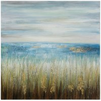 "40"" Square Shore 3D Grass Canvas"