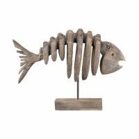 """18"""" Driftwood Bonefish Sculpture"""