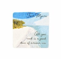 "2"" Square Fort Myers Vitamin Sea Magnet"