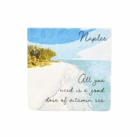 "2"" Square Naples Vitamin Sea Magnet"