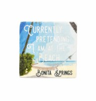 "2"" Square Bonita Springs Pretend To Beach Magnet"