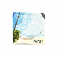 "2"" Square Naples Pretend To Beach Magnet"