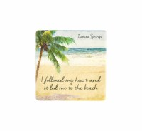"2"" Square Bonita Springs Heart To Beach Magne"