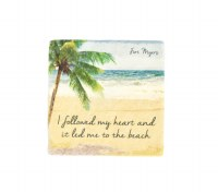 "2"" Square Fort Myers Heart To Beach Magnet"