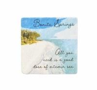 "4"" Square Bonita Springs Vitamin Sea Coaster"