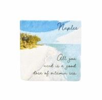 """4"""" Square Naples Vitamin Sea Coaster"""