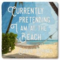 "4"" Square Bonita Springs Pretend To Beach Coaster"