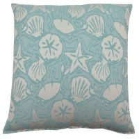 "17"" Square Aqua Bondibeach Pillow"