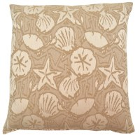 "17"" Square Taupe Bondibeach Pillow"