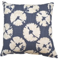 "17"" Square Cello Blue Sanddollar Pillow"