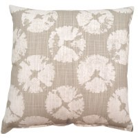 "17"" Square Gray Sanddollar Pillow"