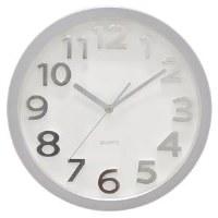 "13"" Round Silver Clock"