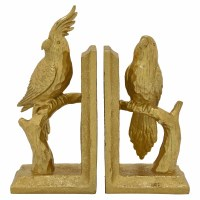 "9"" Gold Cockatoo Bookends"