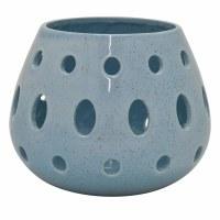 """7"""" Turquoise Pierced Ceramic Hurricane"""