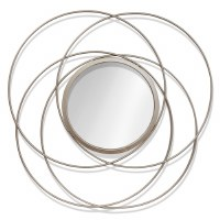 "28"" Champagne Metal Rings Mirror"