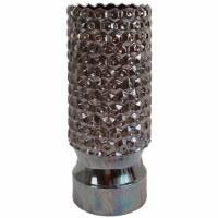 """23"""" Iridescent Black Honeycomb Ceramic Vase"""