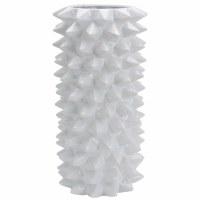 """23"""" White Spikes Ceramic Vase"""